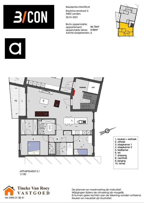Foto 3 : Appartement te 3400 LANDEN (België) - Prijs € 252.014