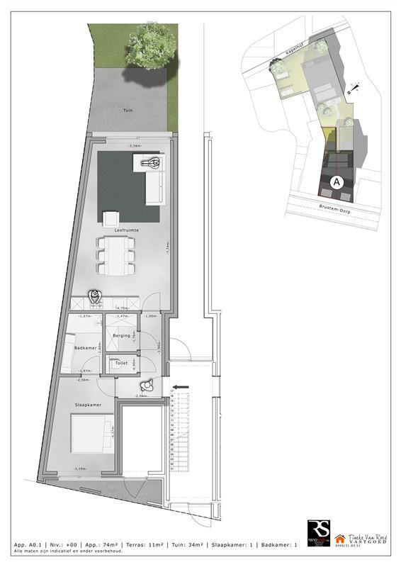 Foto 4 : Appartement te 3800 BRUSTEM (België) - Prijs € 214.500