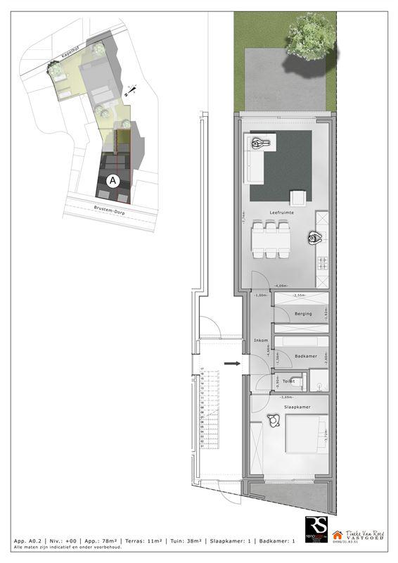 Foto 5 : Appartement te 3800 BRUSTEM (België) - Prijs € 214.500
