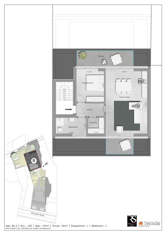 Foto 6 : Appartement te 3800 BRUSTEM (België) - Prijs € 214.500