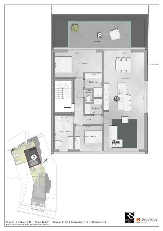 Foto 4 : Appartement te 3800 BRUSTEM (België) - Prijs € 288.000