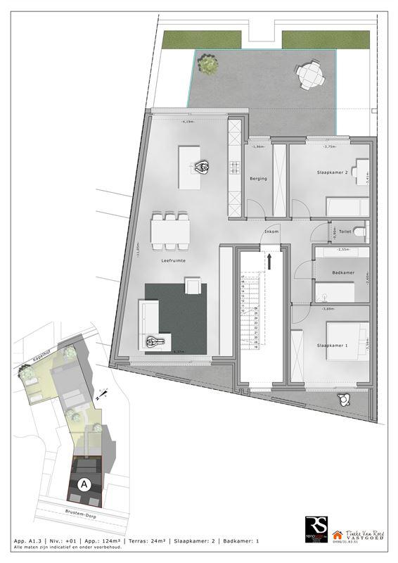Foto 5 : Appartement te 3800 BRUSTEM (België) - Prijs € 288.000
