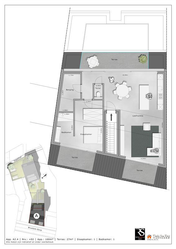 Foto 6 : Appartement te 3800 BRUSTEM (België) - Prijs € 288.000