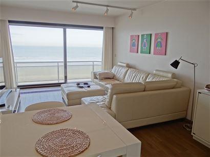 TE HUUR OP JAARBASIS - modern appartement op 6de verdieping met frontaal zeezicht - ingerichte keuken met vaatwas, frigo, microgolfoven en oven - slaa...