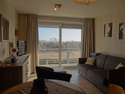 Res. Apollo VI 0202 - Zonnig appartement met slaapkamer - Leefruimte met open ingerichte keuken - Ruim terras van 10 m² - Apart toilet - Badkamer met...