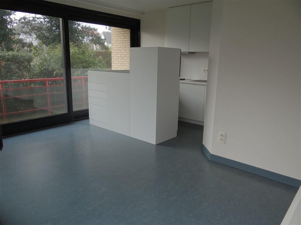 te huur op jaarbasis appartement op de gelijkvloers- ongemeubeld-74m²-een tuntje-1 slaapkamer-ingerichte keuken-ingerichte badkamer met douche-apart ...