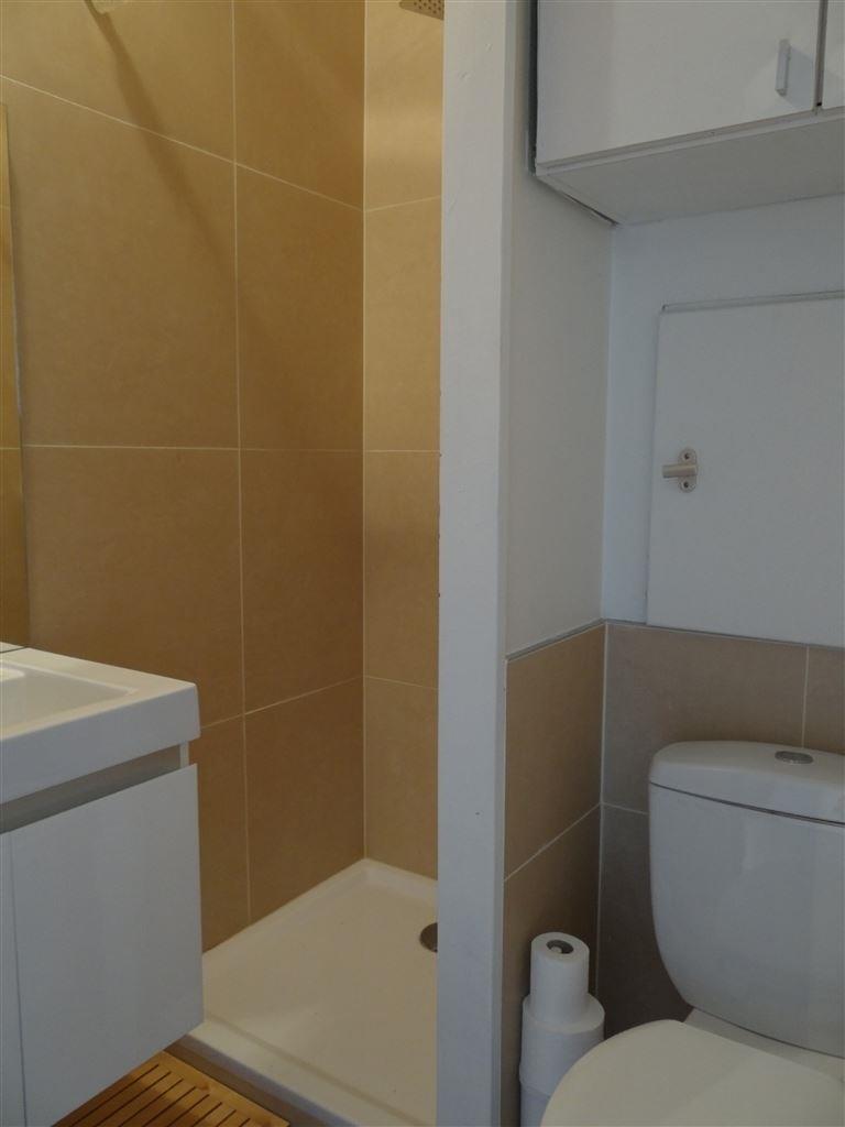 Res. Santhooft B 0707 - Smaakvol gerenoveerde studio met prachtig zicht op de villawijk - Inkom - Badkamer met douche, lavabo en toilet - Keuken met i...